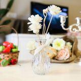 Mooi Rond Glaswerk met de Kunstmatige Olie van de Bloem Sola en van het Aroma voor de Reeks van de Gift van de Verspreider van het Riet van het Huis