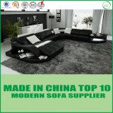 Sofá de cuero moderno de los muebles de la sala de estar con cuero verdadero