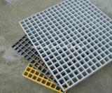 Mini Grating moldado FRP do engranzamento com superfície côncava