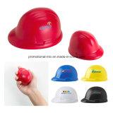 Esfera de estresse de PU de segurança promocional em forma de capacete