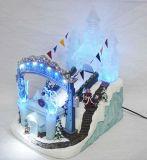 Polyresinのクリスマスの装飾のハンドメイドの樹脂の置物のクリスマスは水噴水を制作する