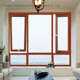 Finestra di alluminio di ottimo rendimento della stoffa per tendine di inclinazione e di girata di disegno (FT-W80)