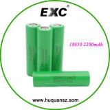 Bateria de lítio 18650 bateria de iões de lítio 3.7V 2200mAh para