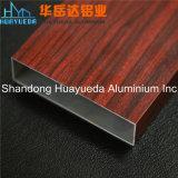 Profils en aluminium en bois personnalisés d'extrusion pour des portes et Windows