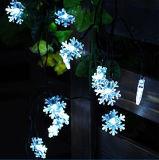 Boda Multicolorful Flor de la pared de tierra de cadena Solar decoración tira bolas de bombilla LED Linterna Lámpara de luz