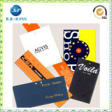 Modifica su ordinazione professionale di caduta del documento di contrassegno dei vestiti dell'indumento (JP-HT070)