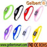 Gelbert neue Noten-Digital-Sport-Armbanduhr des Mann-Frauen-Silikon-LED