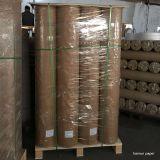 Papel de tejido de transferencia de calor de sublimación 30GSM en máquina de prensa rotativa de calor de Calander / rodillo