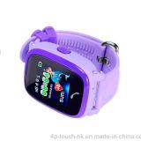 IP67 imperméabilisent la montre colorée des gosses GPS d'écran tactile (D25)