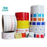 Pet/PE laminado bolsita películas de embalaje para las toallitas húmedas