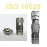 Vloeibare Schakelaar van de Scheepsbouw van de Olie van de Koppeling van het Water van ISO16028 Flushface SS316 de Snelle (roestvrij staal)