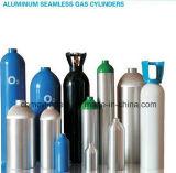 Cilindros oxígeno-gas de aluminio estándar del PUNTO