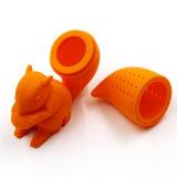 Tè sveglio 100% del silicone del reticolo dello scoiattolo del commestibile del commercio all'ingrosso Infuser