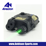 Anbison-sporten Airsoft peq-15 het Geval van La-5 Batterij met Groene Laser