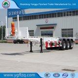 De nieuwe 50-80t 2/3 Aanhangwagen van de Container van het Skelet van Assen voor Vervoer van de Container 20/40FT met het Slot van de Draai