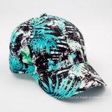 Gorra de béisbol de panel de papel 6 con pico de algodón