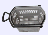 2016 vente en gros Supermarket Plastic Rolling Shopping Baskets avec Handle