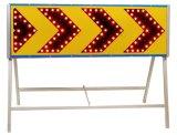 Panneau de signalisation de direction de circulation en aluminium rouge-bleu