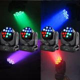 12*10W 소형 크리 사람 이동하는 헤드 LED 광속 빛