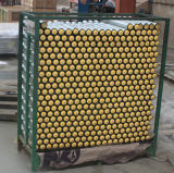 Rullo di gravità con la protezione di estremità di plastica per il trasportatore a rulli