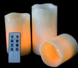 Pilar Solar LED Luces de velas decorativas de Navidad de la barra de fiesta