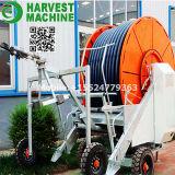 Sistema de irrigação móvel do carretel da mangueira da agricultura/sistema de irrigação do injetor extremidade grande