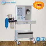 1つの蒸発器および2つの流量計が付いているYj-801麻酔機械