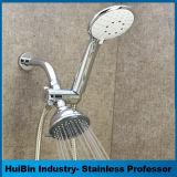 Testa di acquazzone di plastica fissata al muro dell'ABS 3 di placcatura di bicromato di potassio della stanza da bagno ad alta pressione di funzione