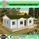 A casa pré-fabricada barata da construção rápida dirige a casa do bloco liso