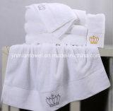 工場カスタムロゴの卸し売り白い綿タオルのホテルの大広間の浴室タオル