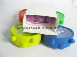 Multi-Color Décoration maison double son de cloche au large de joint silicone Mini réveil de table
