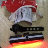 Raypal 2266 Fahrrad USB-nachladbares Endstück-Licht-Fahrrad, das hintere Lampe PFEILER Endstück-Lichter komprimiert