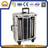 Grand Zebra Cosmetic Valise Trolley avec LED & Mirror (HB-3501)