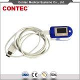 Contec Cms50d+ Ce/FDA USBのポートの指先のパルスの酸化濃度計