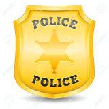 Botão de estanho Prata antigo esmalte Monograma Policial Corda Exército de alumínio