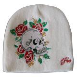 Malha rosa POM POM Hat com logotipo em NTD1218