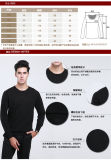 Yak-Wolle-/Kaschmir-runder Stutzen-lange Hülsen-Strickjacke/Kleidung/Kleid/Strickwaren der Männer