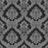 PVC en relieve el papel tapiz de Damasco profundo (MK830105)