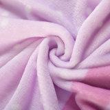ポリエステルによって印刷される極度の柔らかい軽量のマイクロ羊毛毛布