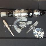 Het beste Verkopende Uiteinde van het Kwarts van de Uitrusting van de Collector van de Nectar voor Roken Duidelijk door Glanzend Glas