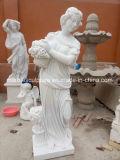 Carving Custom Mulher escultura em mármore figura estatuetas (SY-MS116)