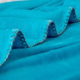 Förderung-warme volle Plüsch-Ozean-Blau-Flanell-Vlies-Zudecken