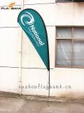 Напольный изготовленный на заказ флаг Teardrop печатание цифров ветрила/флаг летания