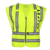 Alta maglia di sicurezza di visibilità con nastro adesivo riflettente per la polizia