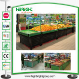 Акриловый стеллаж для выставки товаров фрукт и овощ супермаркета