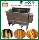 販売のための機械螺線形のポテトの深いフライヤーを揚げる安いレストラン装置オイル水