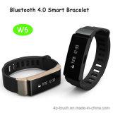 Le bracelet de Bluetooth intelligent le plus neuf pour l'androïde et le téléphone d'IOS (W6)