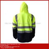 Качество фабрики выполненное на заказ напольное высокая видимость отражательная ватка куртки Hoody фланели безопасности (W379)