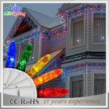 休日またはクリスマスの装飾接続可能な屋外のゴム製ケーブルLEDストリングライト