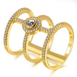 متأخّر أسلوب مجوهرات نوع ذهب يصفّى [كز] [فينجر رينغ] طويلة